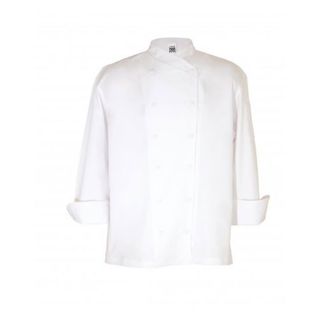 Chef Revival J006-4X Chef's Jacket w/ Long Sleeves - Poly/Cotton, White, 4X