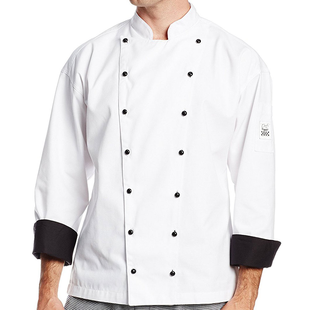 Chef Revival J013-XL Chef's Jacket w/ Long Sleeves - Poly/Cotton, White, X-Large