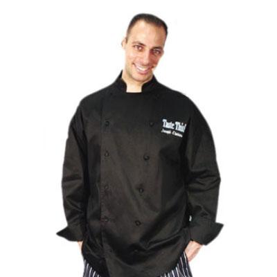 Chef Revival J017BK-2X Cotton Cuisinier Chef Jacket, 2X, Black