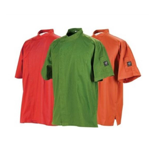 Chef Revival J020MT-XS Chef's Jacket w/ Short Sleeves - Poly/Cotton, Mint Green, XS