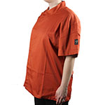 Chef Revival J020SP-4X Chef's Jacket w/ Short Sleeves - Poly/Cotton, Spice, 4X