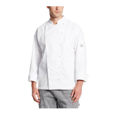 Chef Revival J023-XL Chef's Jacket w/ Long Sleeves - Poly/Cotton, White, X-Large