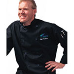 Chef Revival J030BK-L Poly Cotton Traditional Chef Jacket, Large, Black