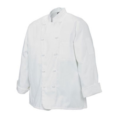 Chef Revival J050-M Poly Cotton Chef Jacket, Cloth Knot, Medium