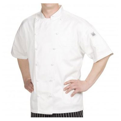Chef Revival J057-M Chef's Jacket w/ Short Sleeves - Cotton, White, Medium