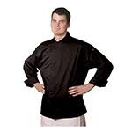 Chef Revival J070BK-3X Chef's Jacket w/ 3/4 Sleeves - Poly/Cotton, Black, 3X