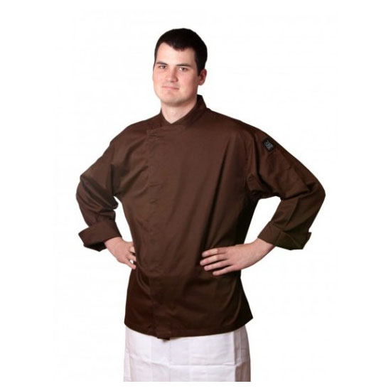Chef Revival J070BR-L Chef's Jacket w/ 3/4 Sleeves - Poly/Cotton, Brown, Large