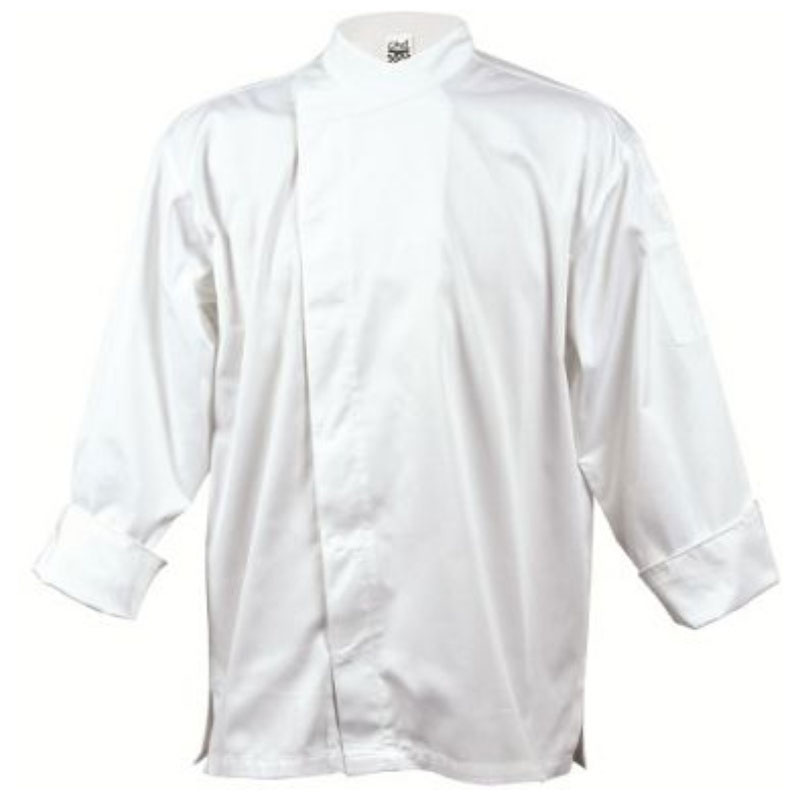 Chef Revival J070-S Chef's Jacket w/ 3/4 Sleeves - Poly/Cotton, White, Small