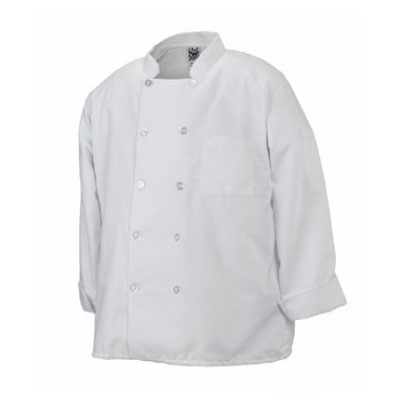 Chef Revival J100-3X Chef's Jacket w/ Long Sleeves - Poly/Cotton, White, 3X
