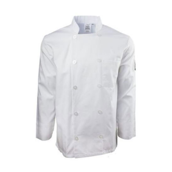 Chef Revival J100-XS Chef's Jacket w/ Long Sleeves - Poly/Cotton, White, X-Small