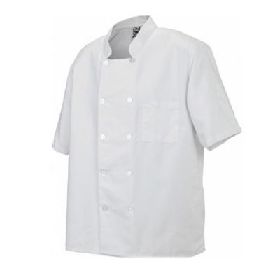 Chef Revival J105-2X Twill Chef Coat, Double Breasted, Short Sleeve, White, 2X