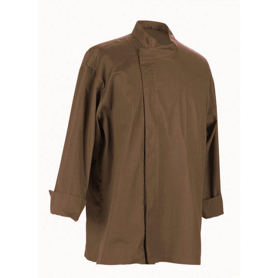 Chef Revival J113EXP-S Chef's Jacket w/ 3/4 Sleeves - Poly/Cotton, Espresso, Small