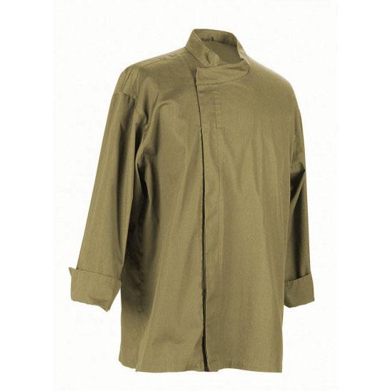Chef Revival J113OG-L Chef's Jacket w/ 3/4 Sleeves - Poly/Cotton, Olive, Large