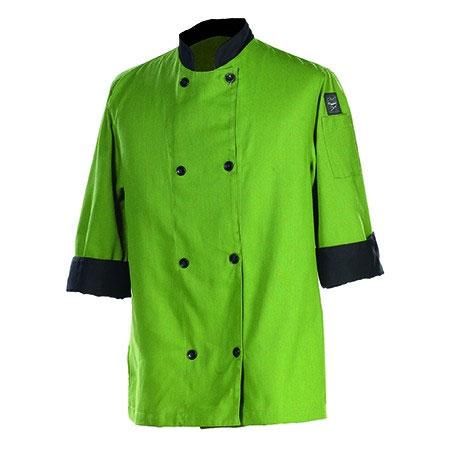 Chef Revival J134MT-M Chef's Jacket Size Medium, 3/4-Sleeve, Mint w/ Black Trim