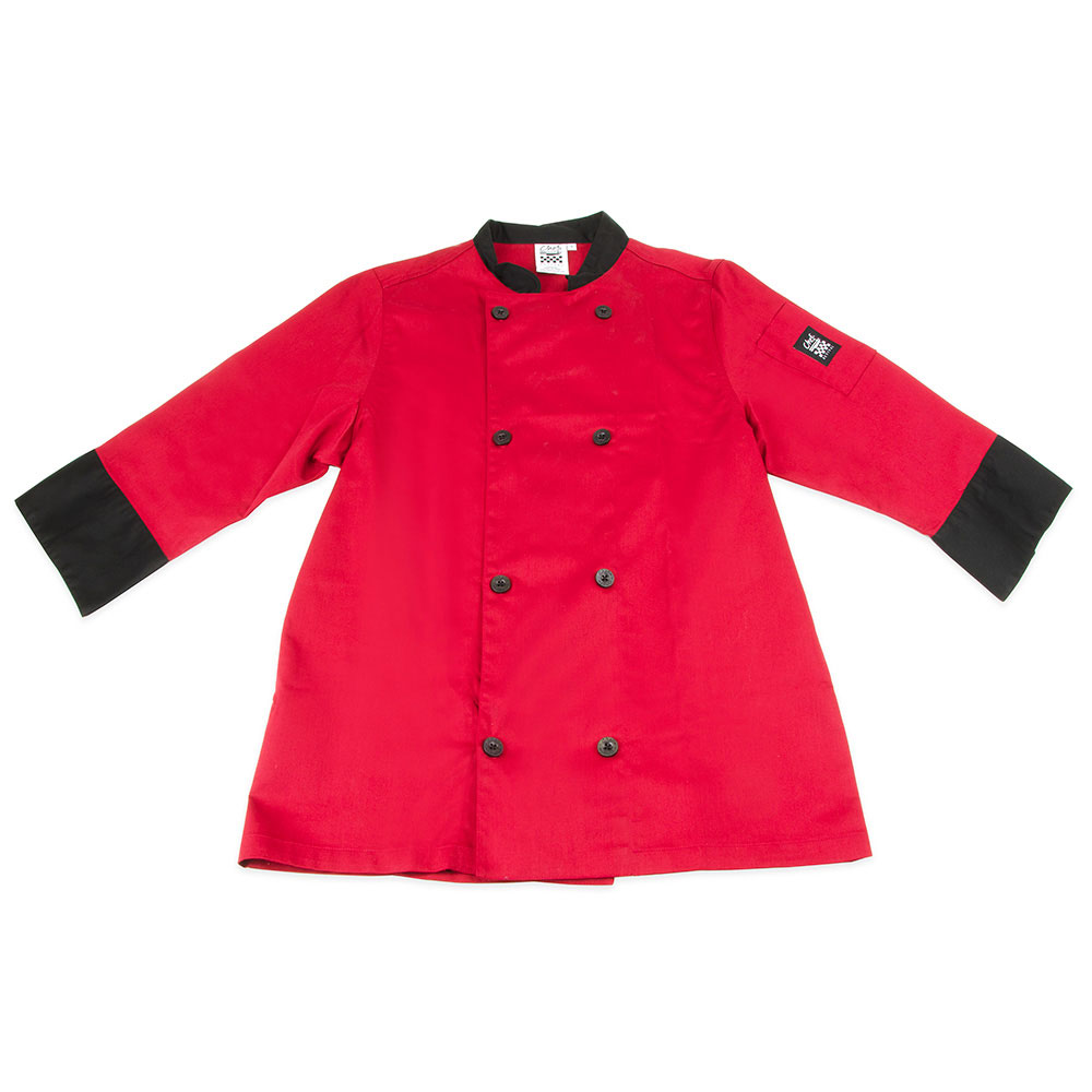 Chef Revival J134TM-2X Chef's Jacket Size 2X, 3/4-Sleeve, Tomato w/ Black Trim