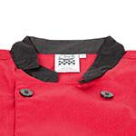 Chef Revival J134TM-S Chef's Jacket Size Small, 3/4-Sleeve, Tomato w/ Black Trim