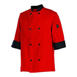 Chef Revival J134TM-XS Chef's Jacket w/ 3/4 Sleeves - Poly/Cotton, Tomato Red, X-Small