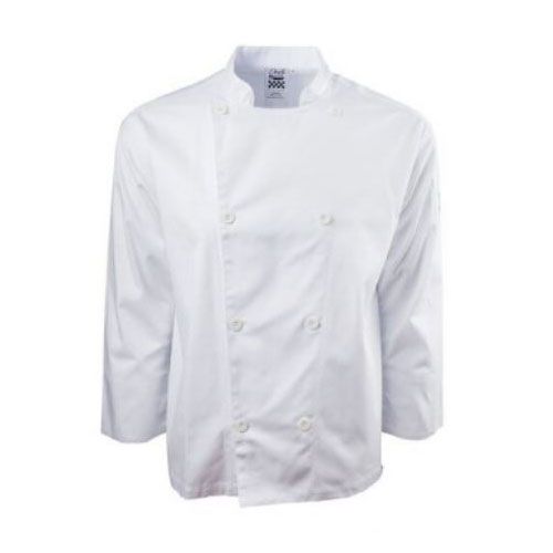 Chef Revival J200-M Chef's Jacket w/ Long Sleeves - Poly/Cotton, White, Medium