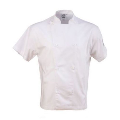 Chef Revival J205-S Chef's Jacket w/ Short Sleeves - Poly/Cotton, White, Small