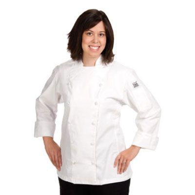 Chef Revival LJ025-L Ladies Poly Cotton Cuisinier Chef Jacket, Large