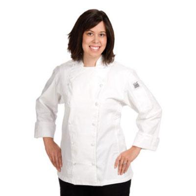 Chef Revival LJ025-M Ladies Poly Cotton Cuisinier Chef Jacket, Medium