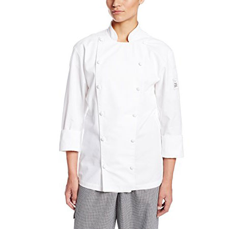 Chef Revival LJ027-3X Ladies Chef's Jacket w/ Long Sleeves - Poly/Cotton, White, 3X