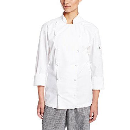 Chef Revival LJ027-M Ladies Chef's Jacket w/ Long Sleeves - Poly/Cotton, White, Medium