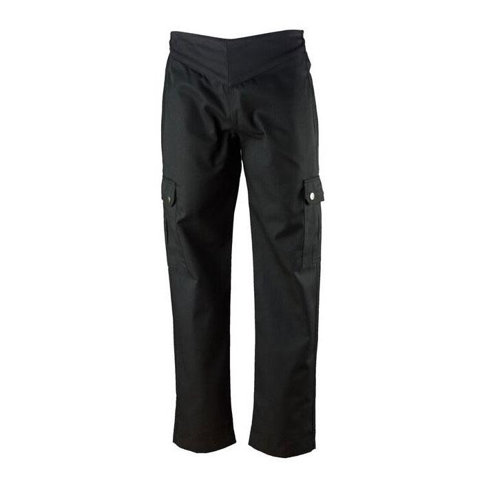 Chef Revival LP002BK-XXS Ladies Cargo Chef's Pants w/ Elastic Waist - Poly/Cotton, Black, XX-Small