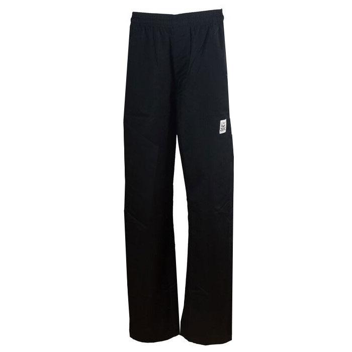 Chef Revival P002BK-L Poly Cotton Chef Pants, Large, Black