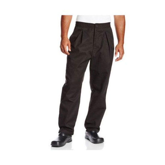 Chef Revival P017BK-3X Chef's Pants w/ Drawstring Waist - Poly/Cotton, Black, 3X