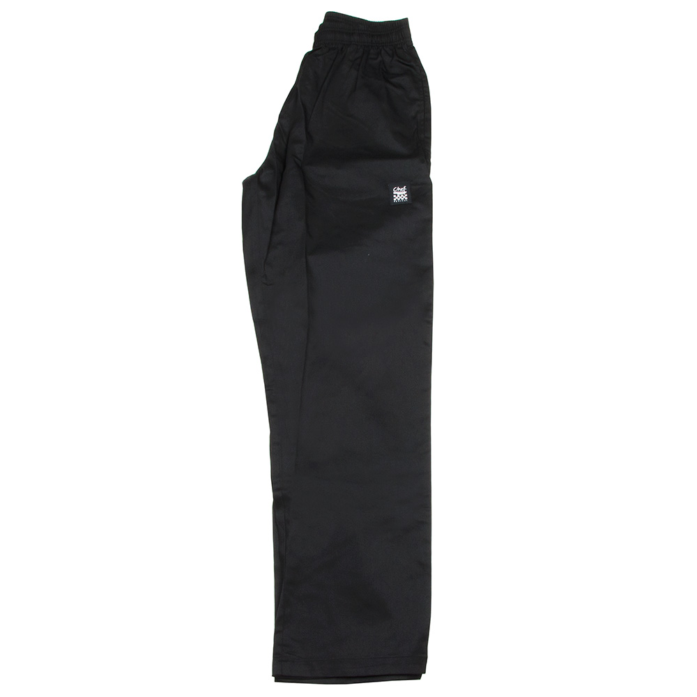 Chef Revival P020BK-2X Poly Cotton Basic Chef Pants, 2X, Black
