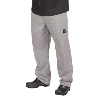 Chef Revival P020HT-8X Poly Cotton Basic Chef Pants, 8X, Hounds Tooth