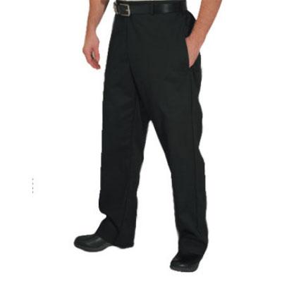Chef Revival P034BK-2X Poly Cotton Chef Trousers, 2X, Black