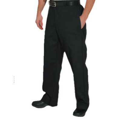 Chef Revival P034BK-L Poly Cotton Chef Trousers, Large, Black