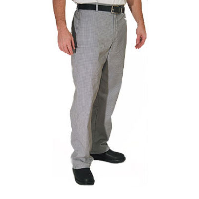 Chef Revival P034HT-M Poly Cotton Chef Trousers, Medium, Hounds Tooth