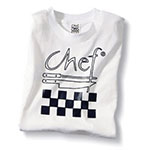 Chef Revival TS001-XL Cotton Chef Logo T-Shirt, X-Large, White