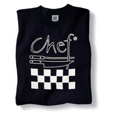 Chef Revival TS002-2X Cotton Chef Logo T-Shirt, 2X, Black