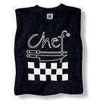 Chef Revival TS002-XL Cotton Chef Logo T-Shirt, X-Large, Black