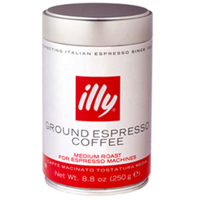 Illy 00489 8.8-oz Fine Grind Medium Roast Espresso Coffee