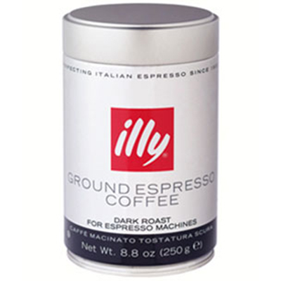 Illy 00490 8.8-oz Fine Grind Dark Roast Espresso Coffee