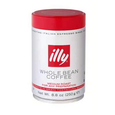 Illy 00495 8.8-oz Whole Bean Medium Roast Coffee