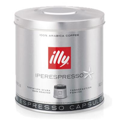 Illy 7464 iperEspresso Dark Roast Coffee Capsules - 21-capsules
