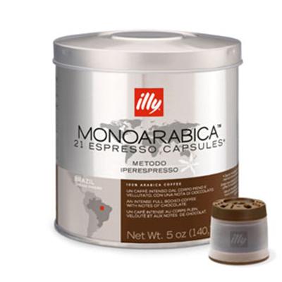 illy 7472 MonoArabica Brazil Espresso Capsules - 21-capsules