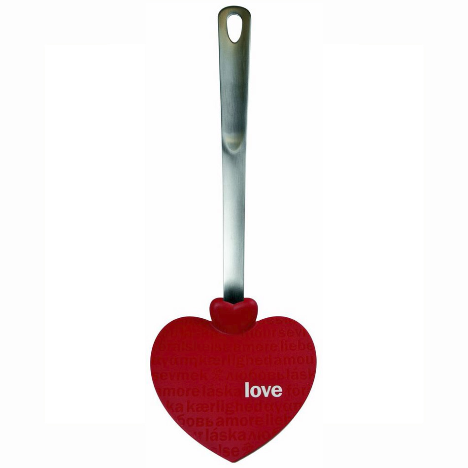 Tovolo 80-3923 Heart-Shaped Spatula - Nylon Head, Stainless Handle