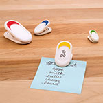 Tovolo 81-10659 Set of 4 Magnetic Utility Clips - Dry Erase Surface, BPA Free
