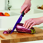 "Tovolo 81-10895 8.5"" Slicing Knife - Ergonomic Handle, Blade Cover, BPA Free"