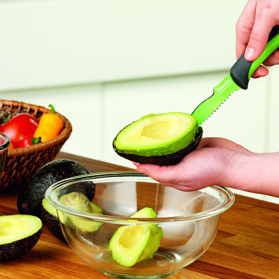 "Tovolo 81-10925 5.75"" Avocado Knife - Ergonomic Handle, Blade Cover, BPA Free"
