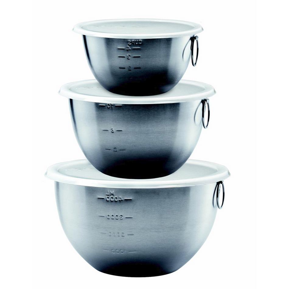 Tovolo 81-1947P 1.5-qt, 3-qt, 5-qt Mixing Bowls- Stainless