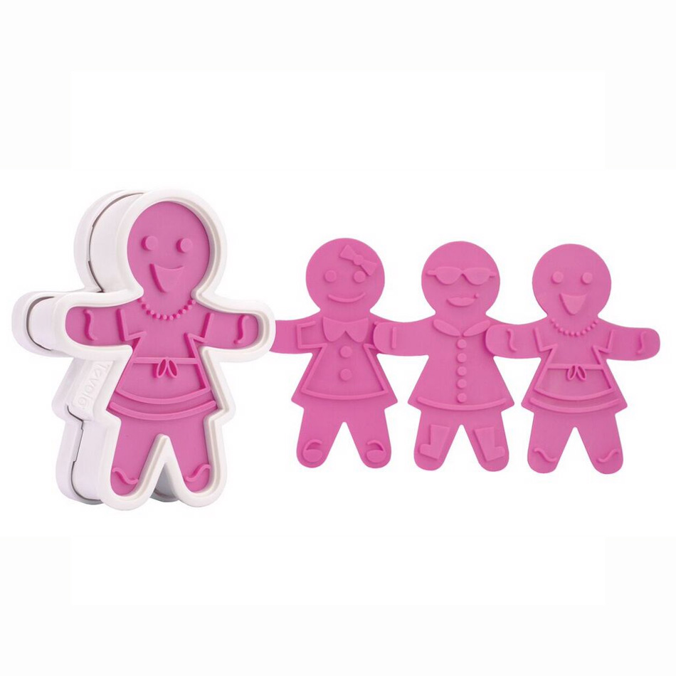 Tovolo 81-3811 Ginger Girl Cookie Cutter Set - Reversible