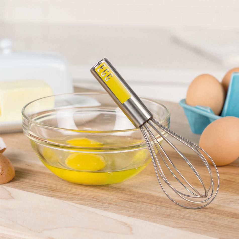 """Tovolo 81-8076 6"""" Mini Egg Whisk - BPA Free, Stainless"""